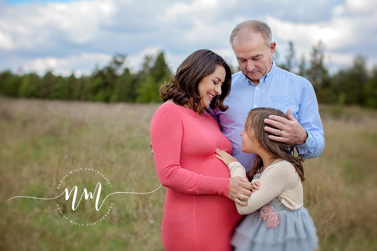 Fotografie familie asteptand bebele